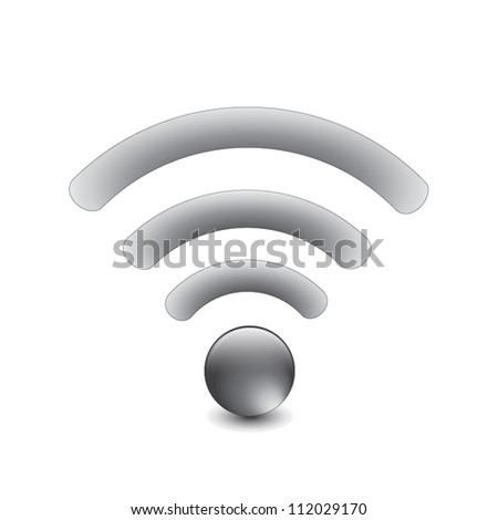 Silver Wireless Network Symbol