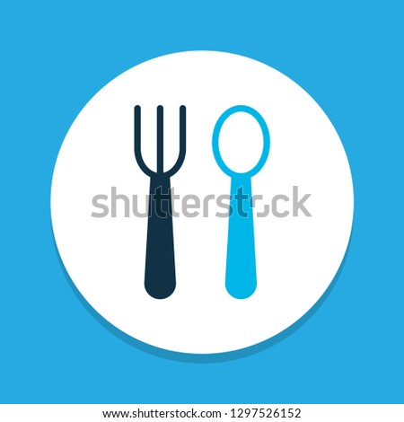 Silverware icon colored symbol. Premium quality isolated dishware element in trendy style.