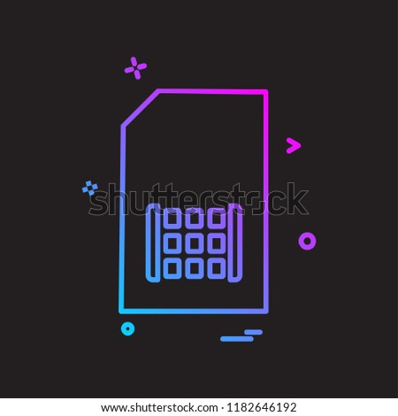 Sim card icon design vector