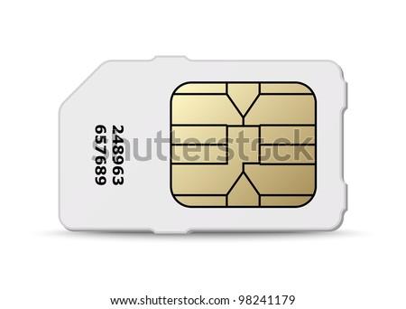 Sim card icon. Vector