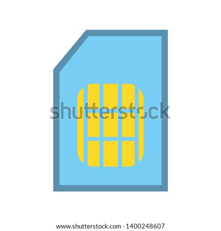 Sim card icon vector, filled flat sign, solid colorful Sim card pictogram isolated on white. Symbol, logo illustration. Pixel perfect