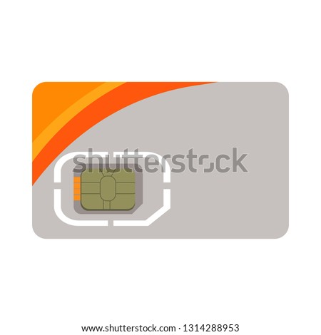 SIM card illustration. Devices, gadgets, electronics. Computer concept. Vector illustration can be used for topics like modern life, progress #1314288953