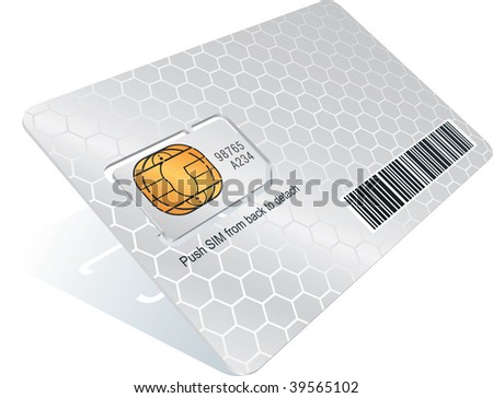 Sim card with carrier