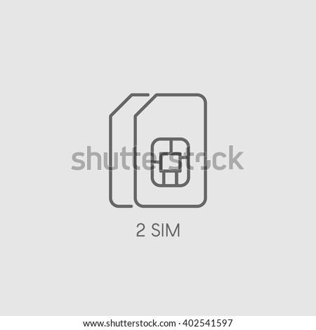 sim dual sim flat vector icon