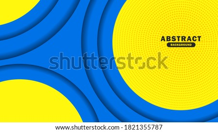 Simple Abstract background hipster futuristic graphic. Yellow background with stripes. Vector abstract background texture design, bright poster, banner yellow and blue background Vector illustration,  ストックフォト ©
