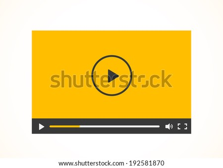Simple abstract icon of video player. Vector illustration.