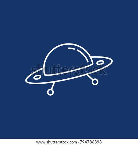 simple alien spaceship or ufo