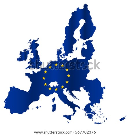 simple all european union countries in one map eps10