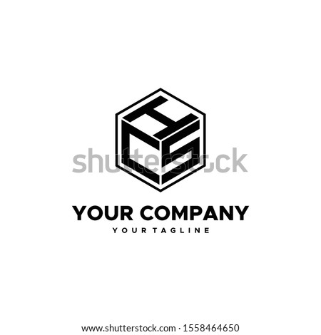 simple and brilliant Initial HCS, CHS logo template, business and web logos