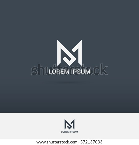 simple and brilliant letter M logo design