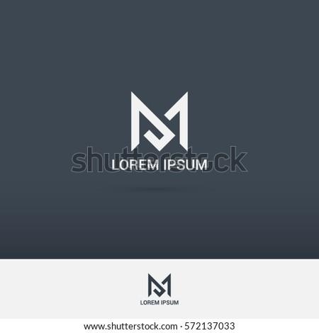 simple and brilliant letter M logo design