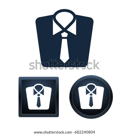 Simple and button shape clothing icons on white background for your designs. Vector illustration icons. Foto stock ©