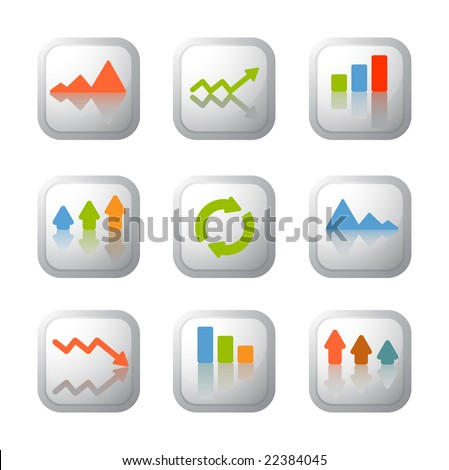 Simple and clear business graph - stock vector