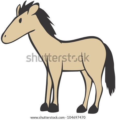 Simple and Cute Horse Illustration