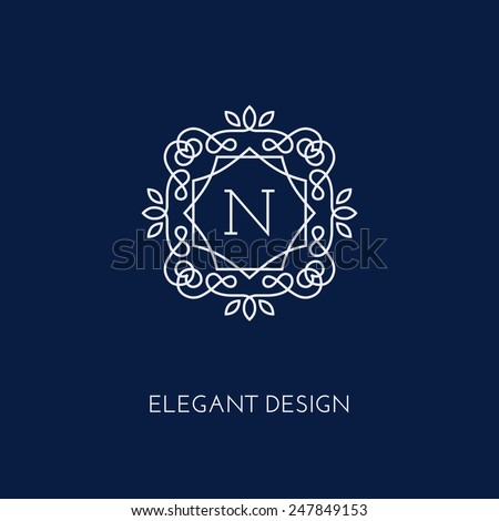 simple and elegant monogram