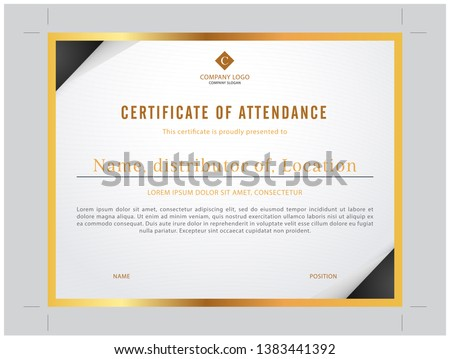 Simple and exclusive goldern modern certificate