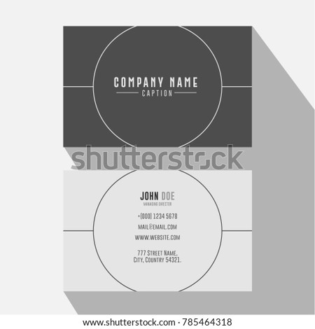 Simple and Minimal Grey Circle Business Card for Freelancer