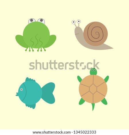 simple animals set frog