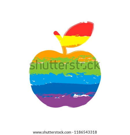 simple apple icon drawing sign