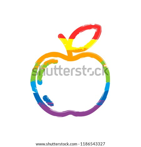 simple apple icon outline