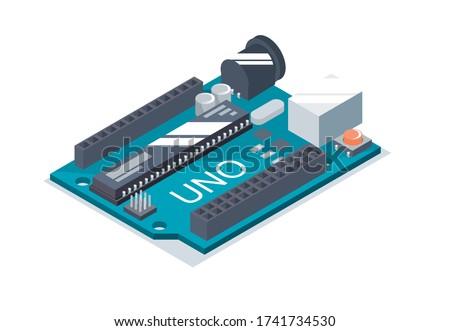 Simple arduino uno board isometric