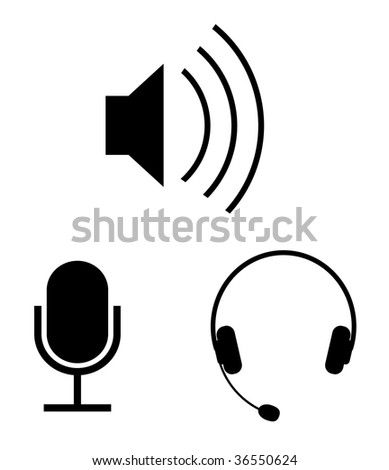 Simple audio vector icons