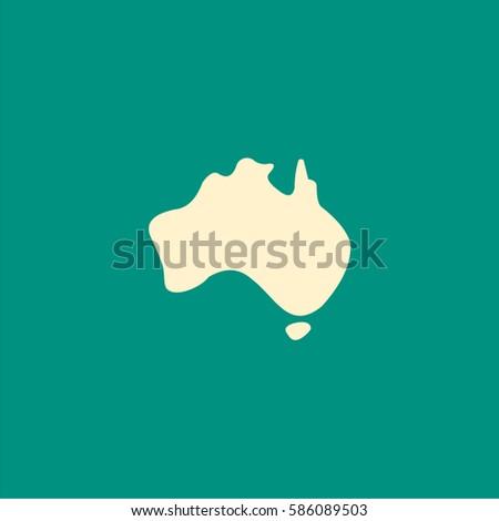 simple Austalia icon