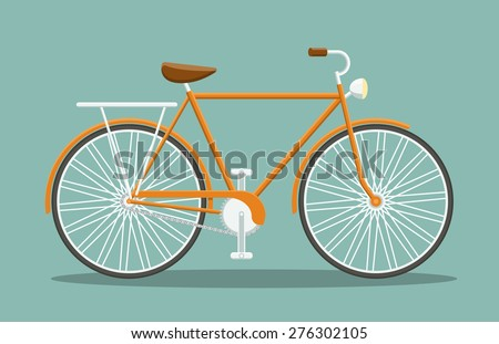 simple bicycle side view