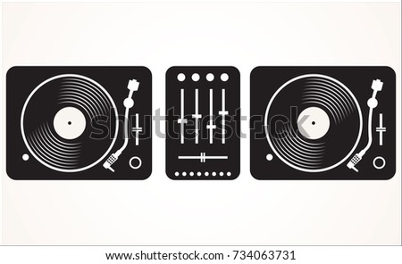 simple black and white dj