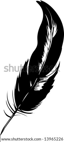 simple black and white old pen - stock vector