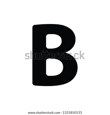 Simple Black Greek fraternity alphabet Symbols sign capital letter : Β β Beta vector illustration