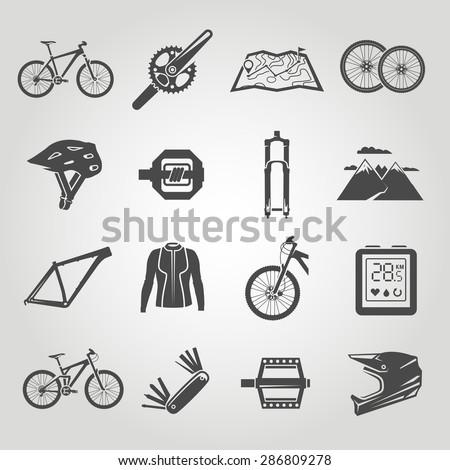 simple black icons set