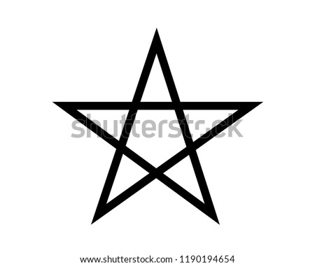 Simple, black pentagram symbol