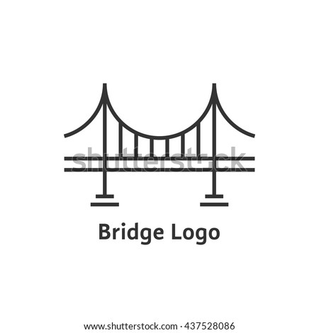 simple black thin line bridge