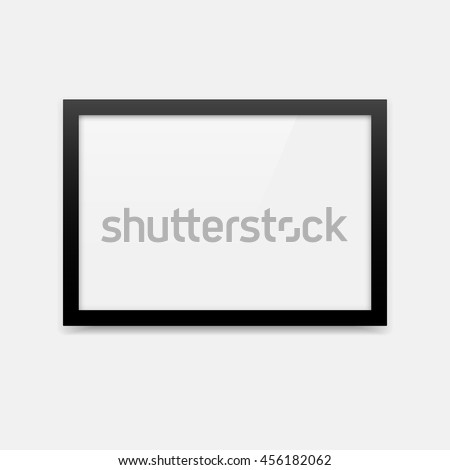 simple black vector photo frame