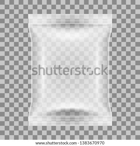 Simple Blank Day Pack And Pillow Pack. EPS10 Vector