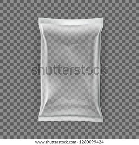 Simple Blank Doy Pack And Pillow Pack. EPS10 Vector