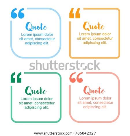 simple block quote frame