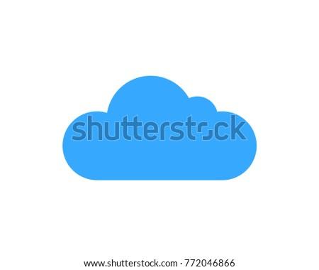 simple blue cloud shape symbol
