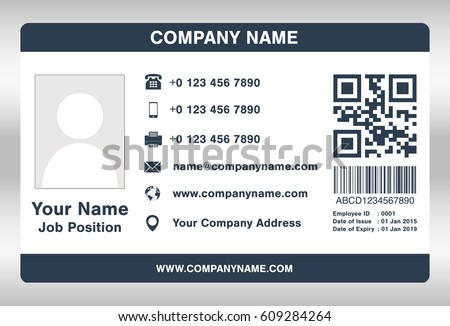 Identification Card Templates Download Free Vector Art – Blank Id Card Template