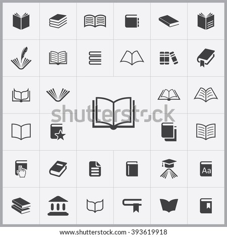 simple book icons set