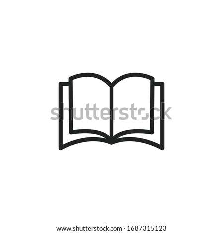Simple book line icon. Stroke pictogram. Vector illustration isolated on a white background. Premium quality symbol. Vector sign for mobile app and web sites.