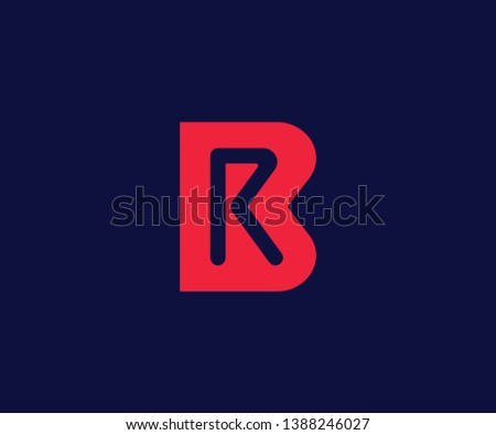 Simple BR Minimalist Initial / Letter BR logo design Zdjęcia stock ©