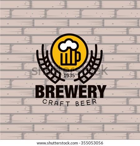 simple brewery logo beer mug