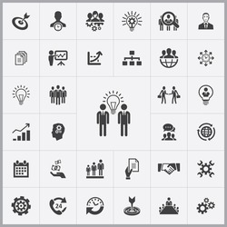 Simple business planning icons set. Universal business planning icons to use for web and mobile UI, set of basic business planning elements