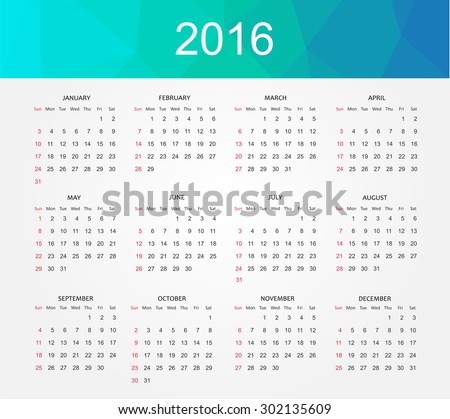stock-vector-simple-calendar-abstract-calendar-for-week-starts-from-sunday-vector-illustration