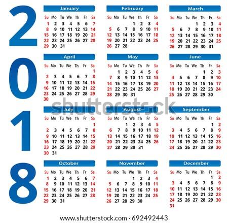 Royalty Free Calendar 2014 Week Starts With Sunday 105339269