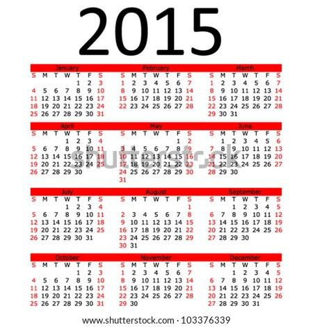July 2015 Calendar Eps Free Vector Download 183 392 Free Vector