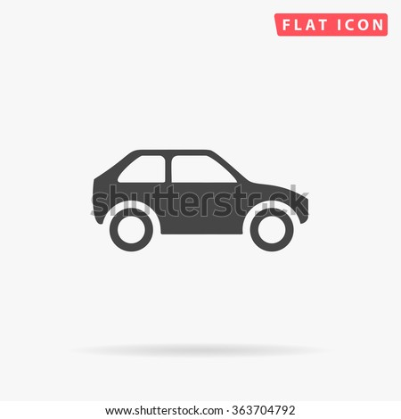simple car icon vector flat