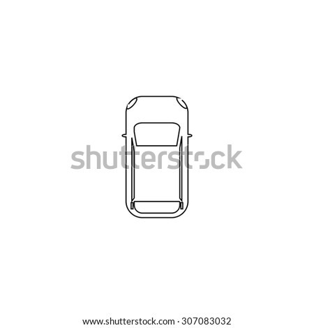 simple car   top view outline